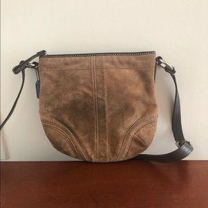 😁 brown round COACH piece with black strap